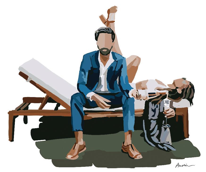 Amelia's Art - Couple on Sofa