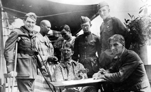 Ernest Hemingway in Milan recuperating