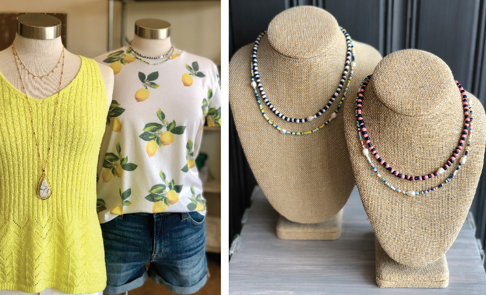 Jeans Tops Necklaces