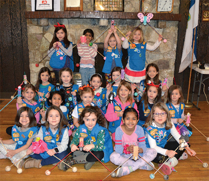 A Daisy group at the Wilmering Scout cabin enjoy activities in Fall 2019.